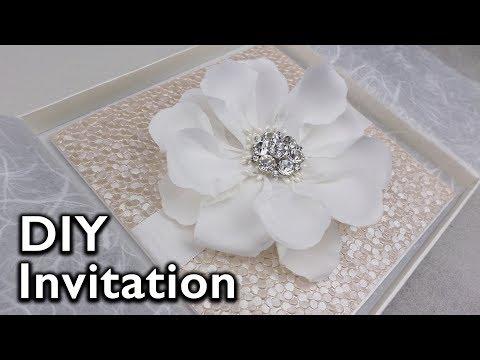 Easy elegant flower Invitation | DIY Wedding Invitations, Eternal Stationery