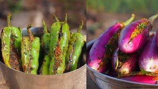 Bharwa Baingan Aur Bharwa Mirchi | Indian Cooking by Nikunj Vasoya