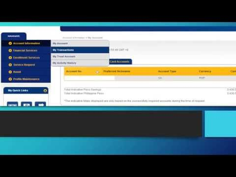 Banco De Oro Online - How to Download Transactions
