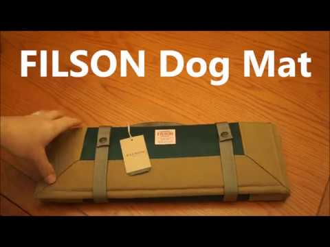 Filson Travel Dog Mat - nice simple pad for the dog