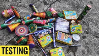 Testing new diwali firework stash 2019/Testing different types of crackers/Diwali stash2109/Crackers