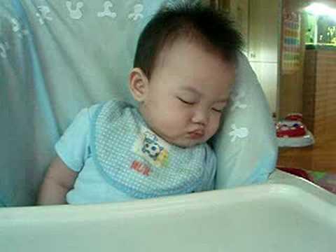 Bryan falling asleep during feeding
