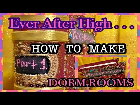 How To Make Ever After High Dorm Rooms / Step 1 Cardboard Box Display Construction