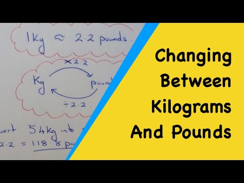 How To Convert Between Pounds And Kilograms (1kg = 2.2 pounds)