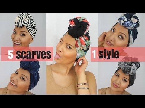 How to tie a Headscarf like Nalie   Turban Tutorials