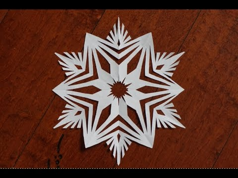 Paper snowflake 1 - Detailed tutorial- Intermediate level -Can YOU do it?