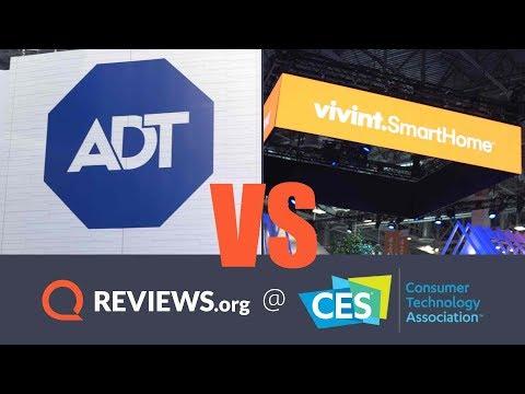 ADT vs VIVINT - New Security Tech BATTLE! | CES 2018