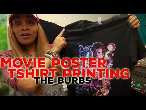 Movie Poster Tshirt Printing: The Burbs! Anajet DTG Apparel Printer