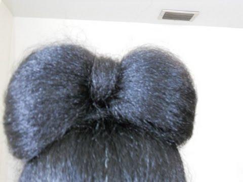 Bow Bun-Medium to long hair