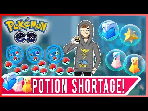 POTION SHORTAGE IN POKEMON GO! Potion Drop Rate Decreased! How to Get Potions in Pokemon GO!