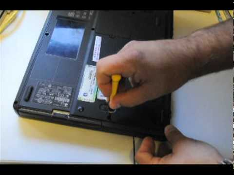 How to remove a hard drive from the side from an HP Presario 2100 laptop