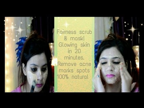 Instant Fairness face body masoor dal scrub and pack|get healthy glowing skin naturally\Home remedy