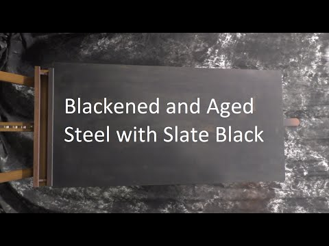 Blackened and Aged Steel with Slate Black