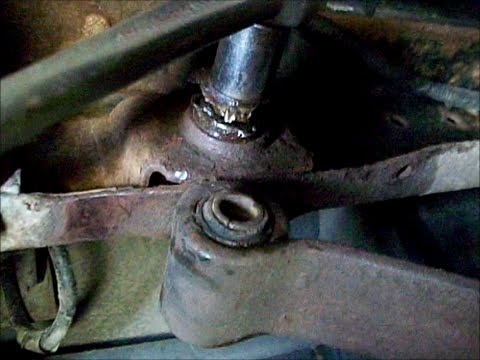 Ford sport trac `01 remove rusted rear frame shackel bolt