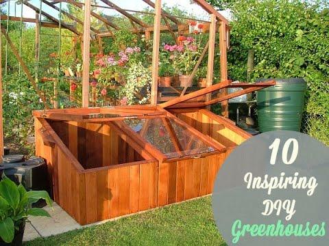 10 DIY Greenhouse Building Plans Ideas