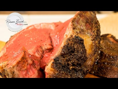 Crusted Prime Rib Roast of Beef Recipe - Temperature and Cooking Times for all Sizes