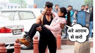 Biceps curling with cute girl's || Sam Khan