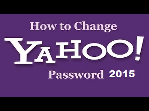 How To Change Yahoo Password 2015 Telugu