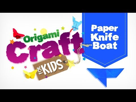 How to make Origami Paper Knife Boat in Tamil | Origami Craft for Kids || Easy Paper Craft