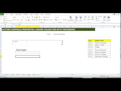 MS Excel ActiveX: How to link Combobox selection as an output cell value.