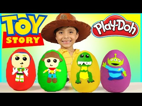 New Toy Story 4 Play-Doh Surprise Eggs Kids Toys Disney Pixar Buzz  Lightyear Woody bcd35c9699a