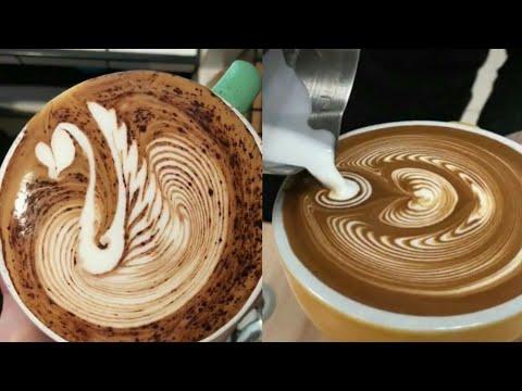 Amazing cappuccino latte art skills 2018