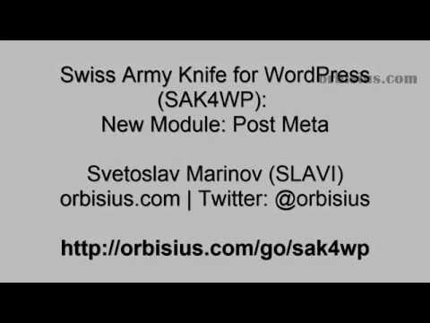 How to Get WordPress Post Meta With a Few Clicks Using SAK4WP