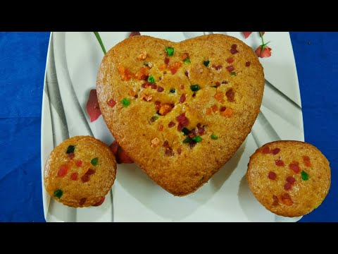 Eggless Fruit Cake in Pressure Cooker  | No egg, No Condensed Milk recipe |