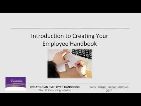 Introduction to creating your employee handbook