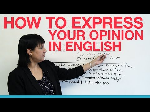 How to express your opinion in English