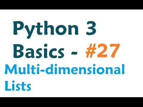 Python 3 Programming Tutorial - Multi-dimensional List