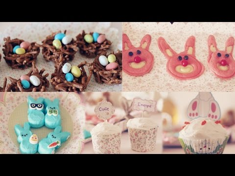Easter Treats| bunny pancakes, birds nest & more!