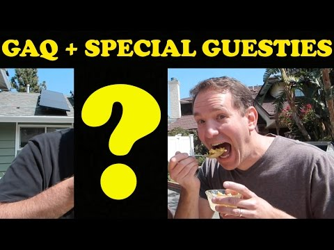 Eating Loudly In Public! - GAQ April 2016 (with special surprise guests)