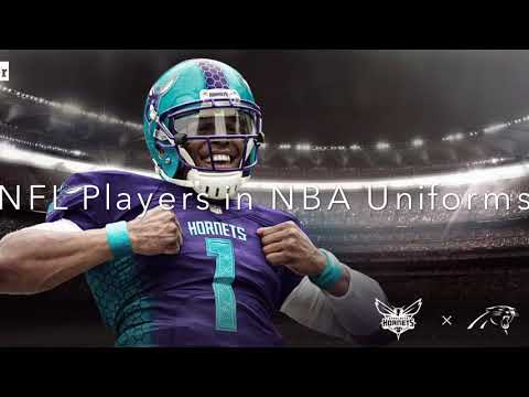 NFL Players in NBA Uniforms