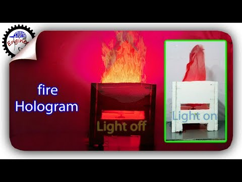 LED 3d fire hologram | diy showpiece | electric showpiece hologram | 3d live fire | stupid engineer