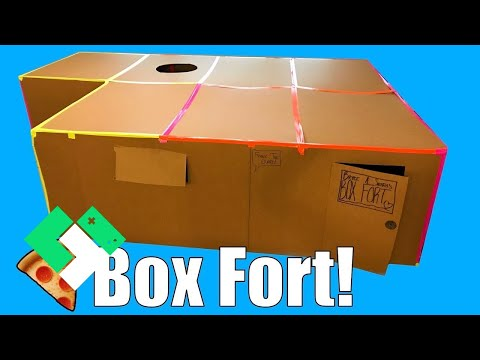 📦 Kids Build First Box Fort! Box Fort Pizza Party! 🍕 | Clintus.tv