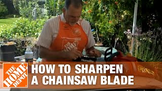 How To Sharpen A Chainsaw Blade The Home Depot