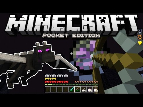FIGHTING THE ENDER DRAGON! - Minecraft Pocket Edition (Windows 10 Edition)