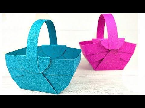 DIY How to make Easter / Flower Basket decoration ideas with paper / bag paper craft easy tutorial