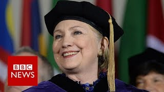 Clinton makes digs at Trump - BBC News