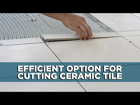 Cutting Ceramic Tile with a Glass Cutter
