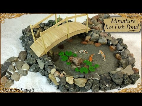 Miniature Koi Fish Pond - Polymer Clay/Resin Tutorial