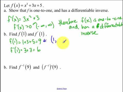 4.3 - Derivatives of Inverse Functions and Inverse Trigonometry