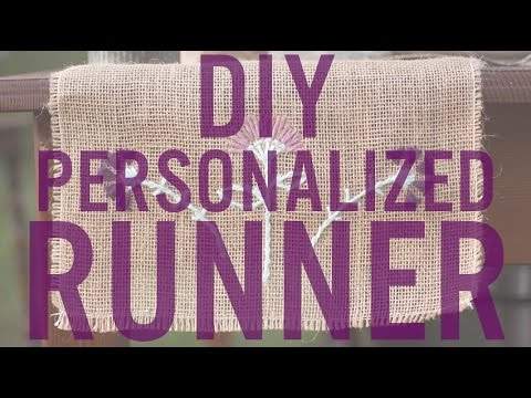 Make a Custom Rustic Wedding Burlap Table Runner