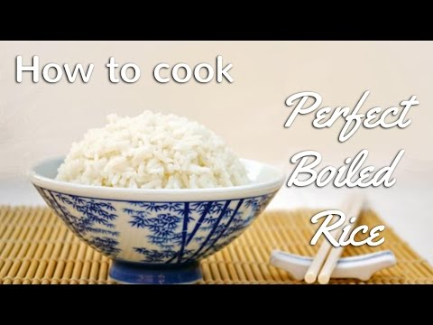 How to cook Perfect Boiled Rice | Chinese Recipes for All.com