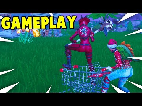 NEW SHOPPING CART GAMEPLAY! *NEW* TROLLEY UPDATE GAMEPLAY || Fortnite Battle Royale!