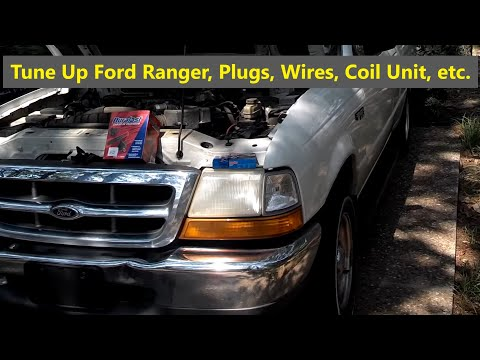Ford Ranger tune up spark plugs, wires, and ignition distributor module replacement - VOTD