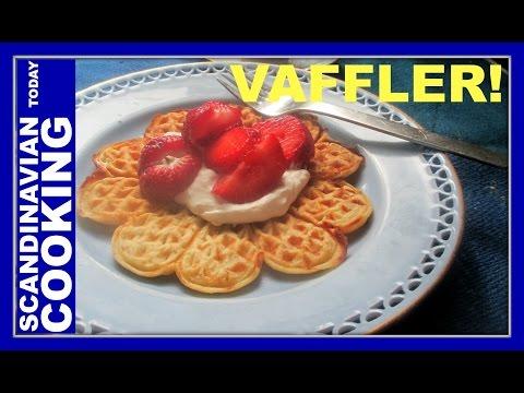 Norwegian Waffles  ♥ Vaffler ♥ How To Make Homemade Norwegian Waffles