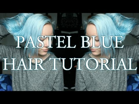 Pastel blue hair tutorial