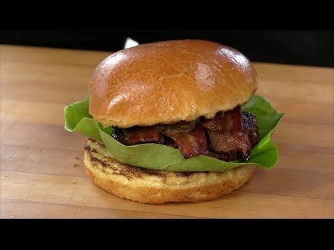 Bourbon Butter Bacon Burger Recipe! (Primo Round)